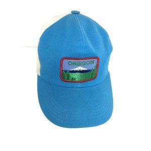 Vintage embroidered patch OREGON trucker hat mesh